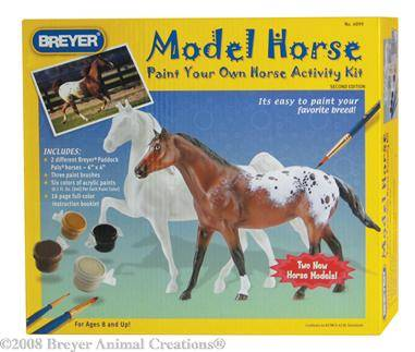 Breyer - Paint Your Own Horse Activity Kit - Quarter Horse and Saddlebred
