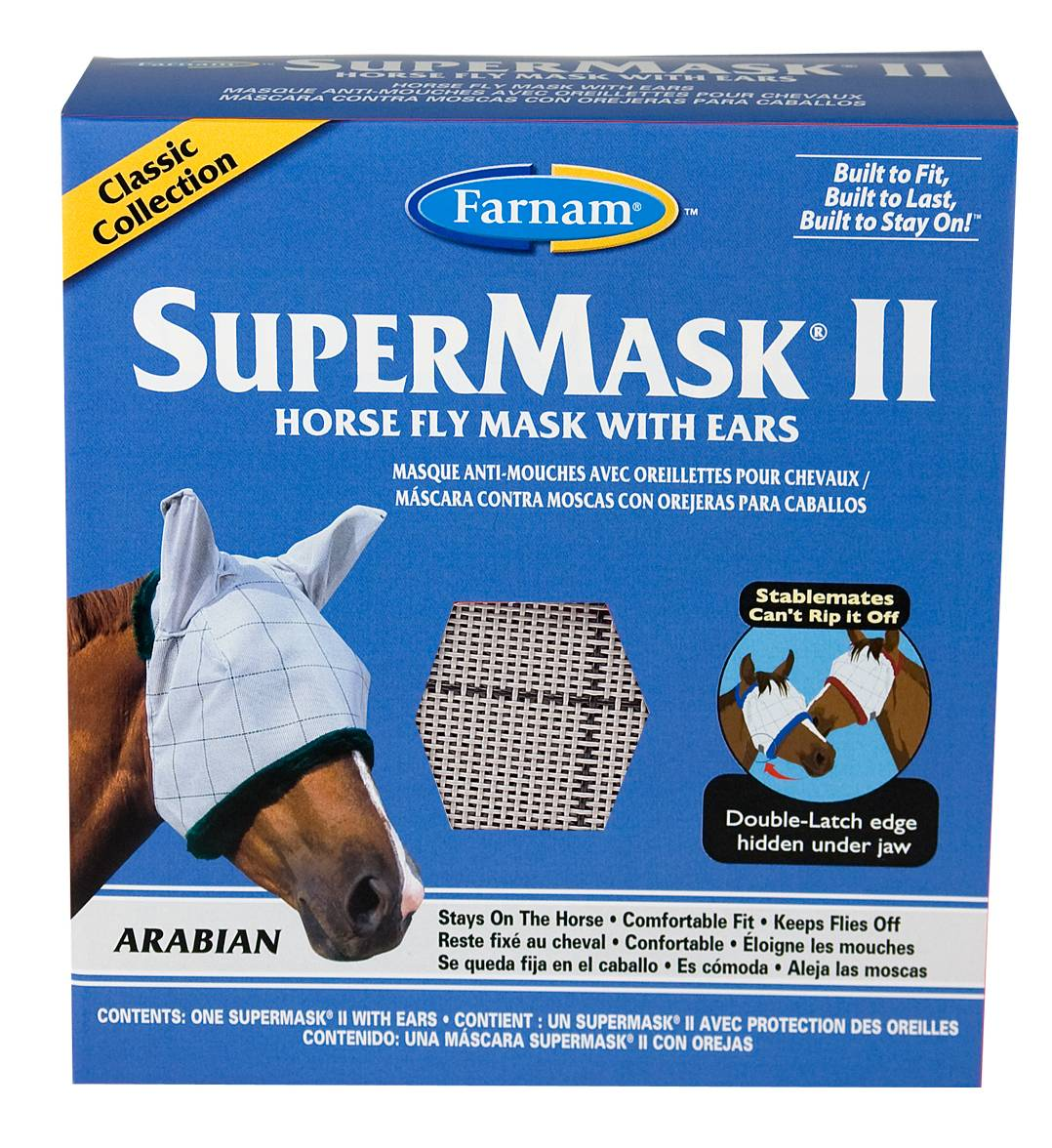Supermask II Horse Fly Mask with Ears Classic Collection