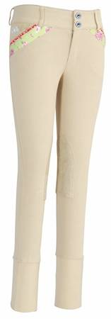 Equine Couture Kids Bindia Knee Patch Riding Breeches