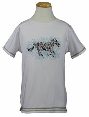 Equine Couture Kids Rosie Short Sleeve Sport Shirt