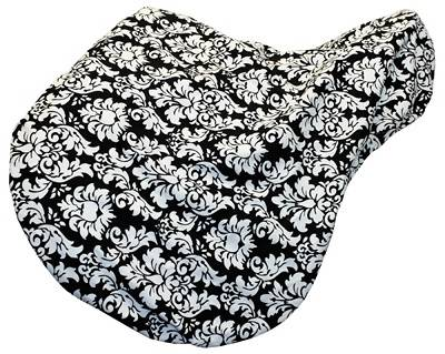 Equine Couture Damask Black/White Saddle Cover - All Purpose