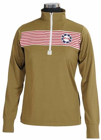 Equine Couture Patriot Long Sleeve Polo - Ladies