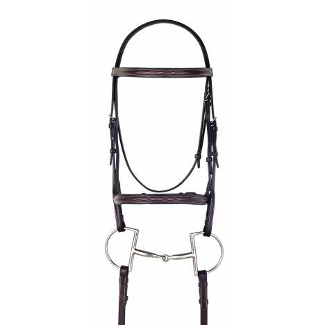 Camelot Gold Fancy Raised Padded Bridle with Reins