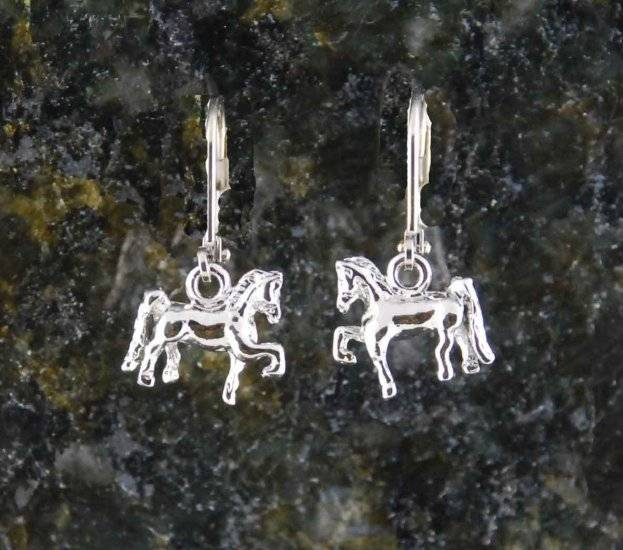 Finishing Touch 3-D Saddlebred Earrings - Euro Wire