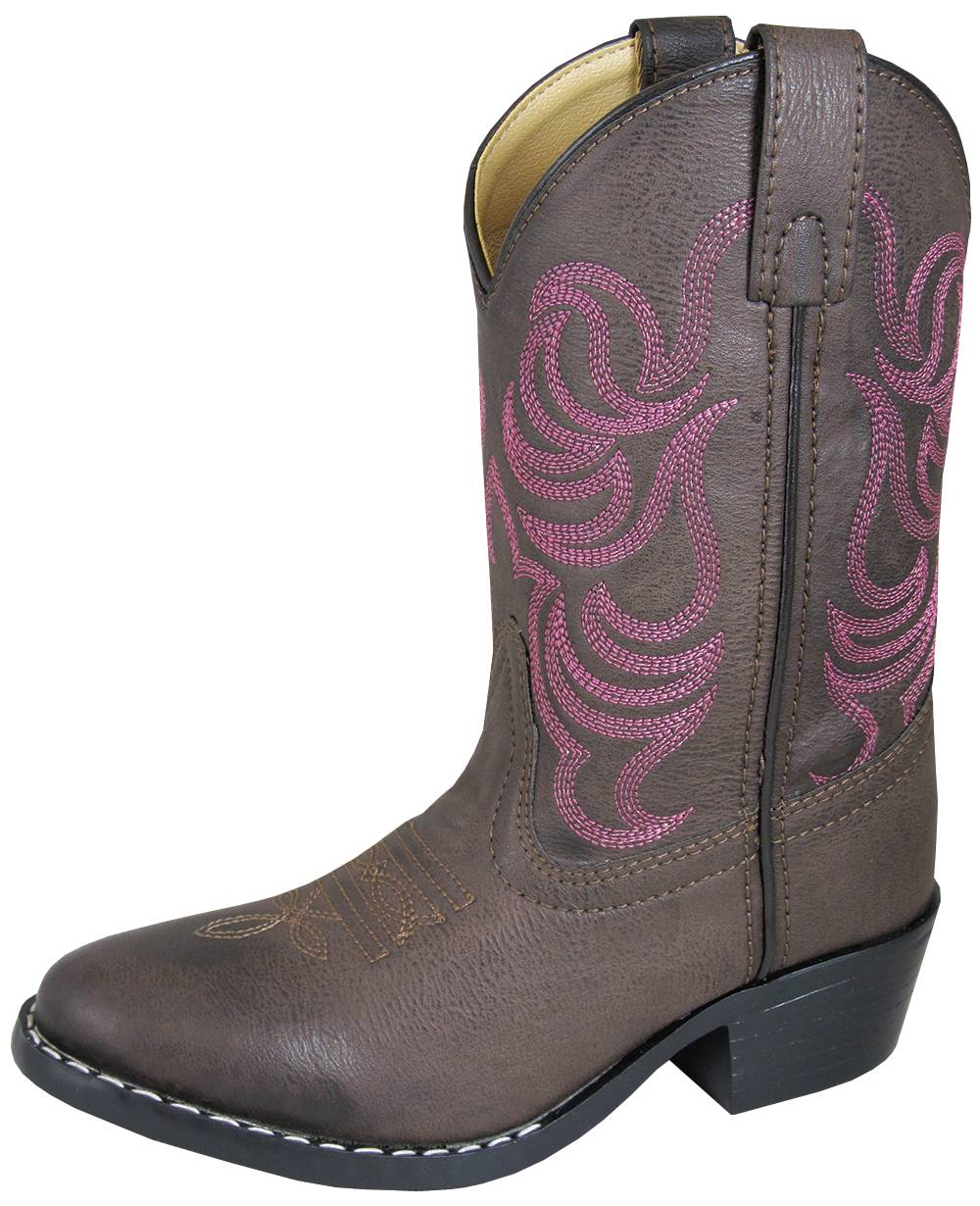 Smoky Mountain Monterey Boots - Youth - Brown/Pink