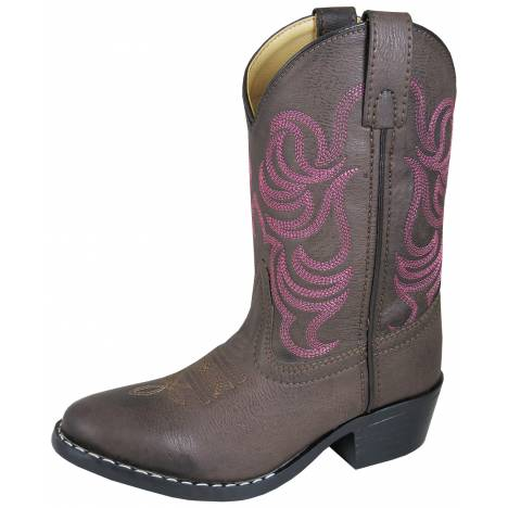 Smoky Mountain Monterey Boots - Childrens - Brown/Pink