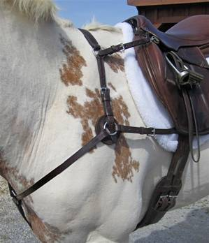 Outlet - Nunn Finer 5-Way Hunting Breastplate, Cob, Havana/Brass