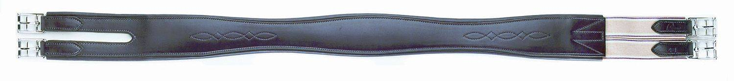 HFP Splt End Overlay Leather Girth with Fancy Stitch