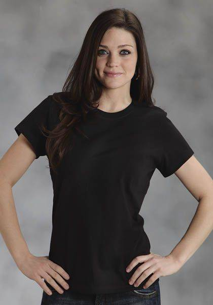 Roper Cotton Tee Shirt - Ladies, Black