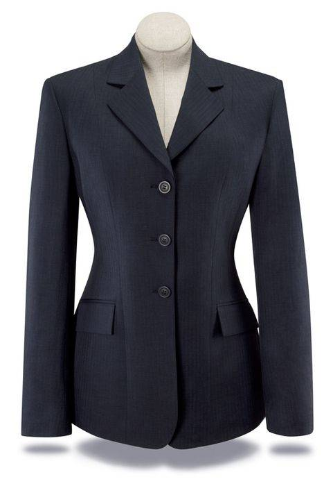 RJ Classics Essential Washable Show Coat - Ladies, Navy Herringbone