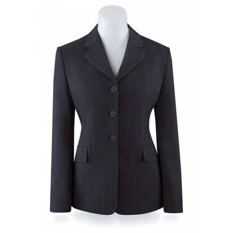RJ Classics Prestige Show Coat- Girls, Dark Navy Plaid
