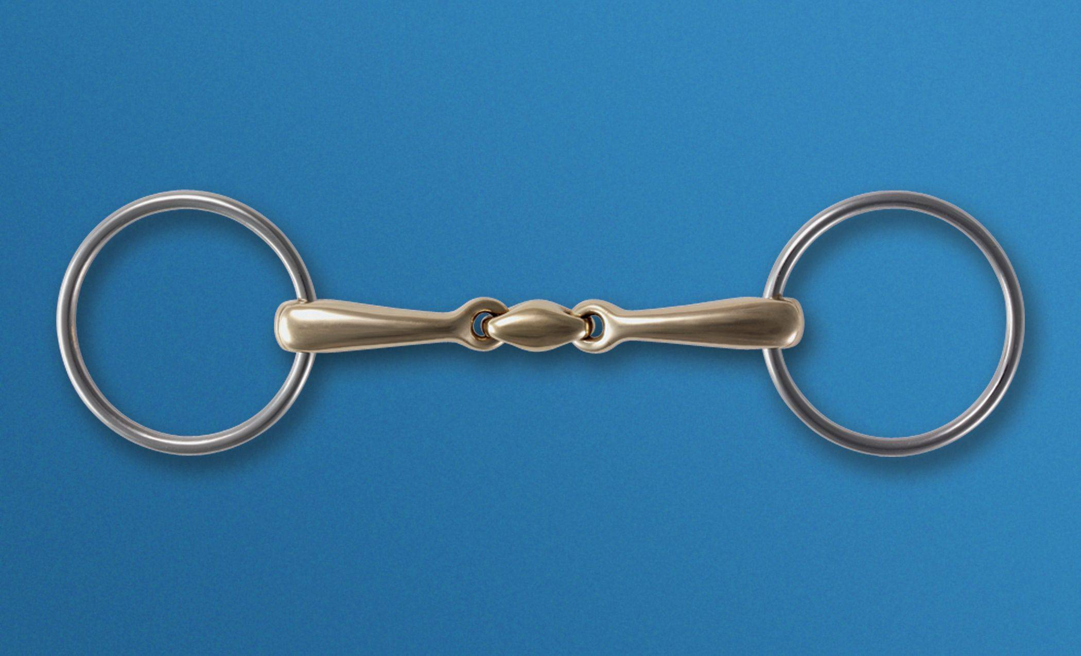 Stubben Steeltec Loose Ring Snaffle & Sweet Copper Mouth