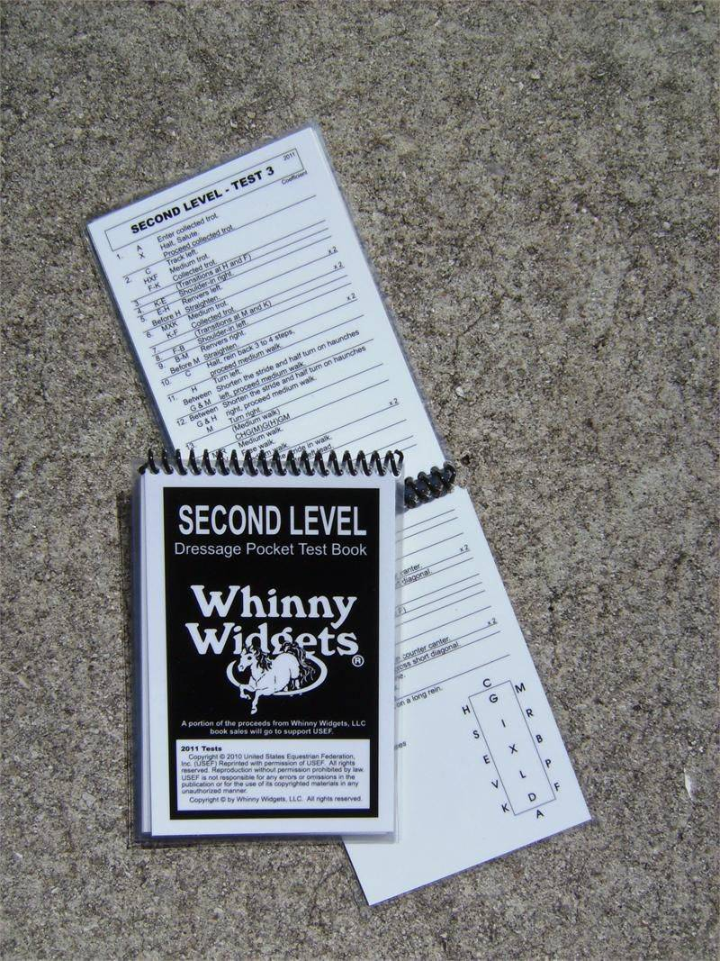 Whinny Widgets 2015 Dressage Test Book - 2nd Level