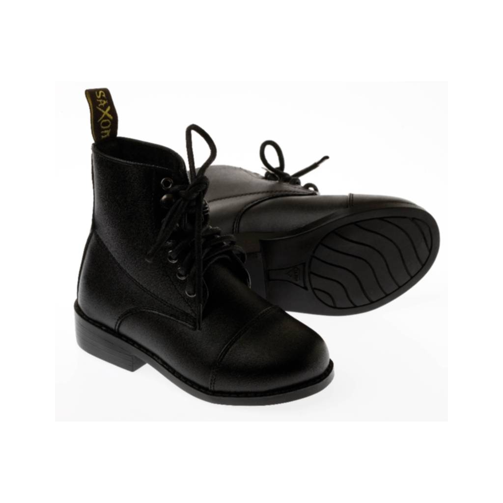 Saxon Equileather Lace-Up Childs Paddock Boots