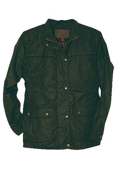 Outlet - Outback Oilskin Walkabout Jacket - Ladies, X-Small, English Green
