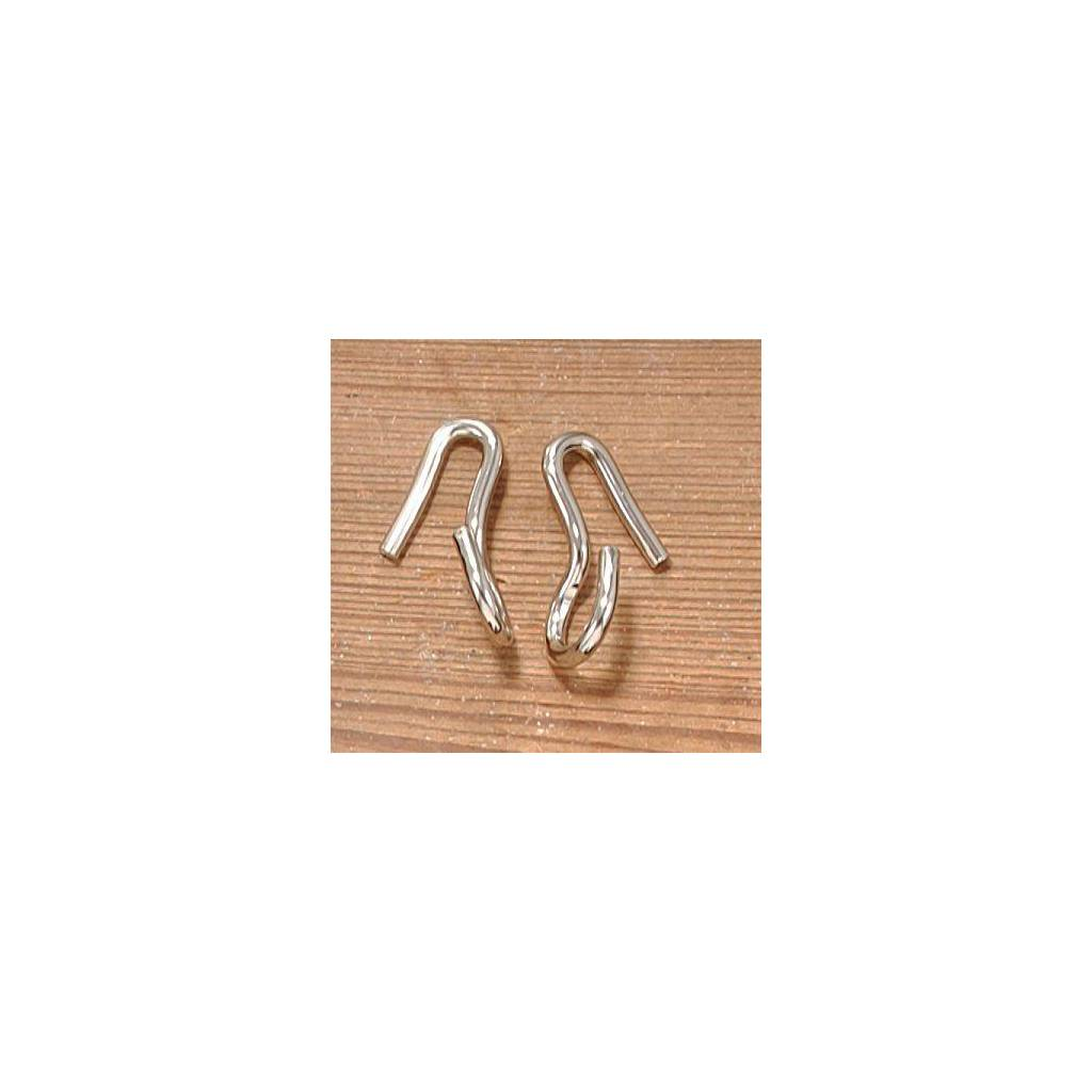 EquiRoyal Chrome Plated English Curb Hooks