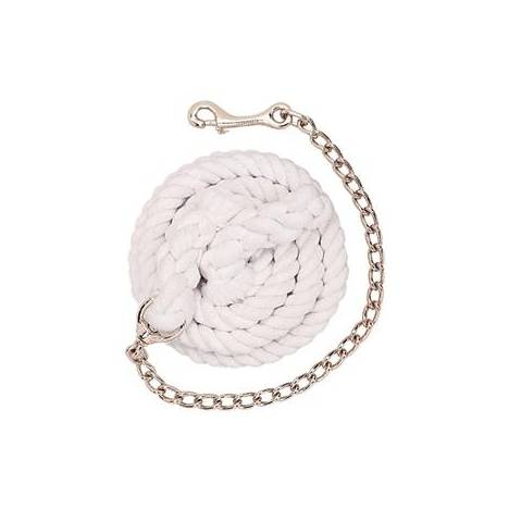 Weaver Cotton Lead Rope with Nickel Plated Chain and Snap