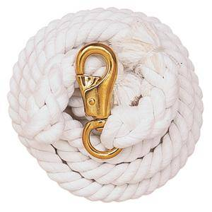 Weaver White Cotton Lead Rope with Bull Snap