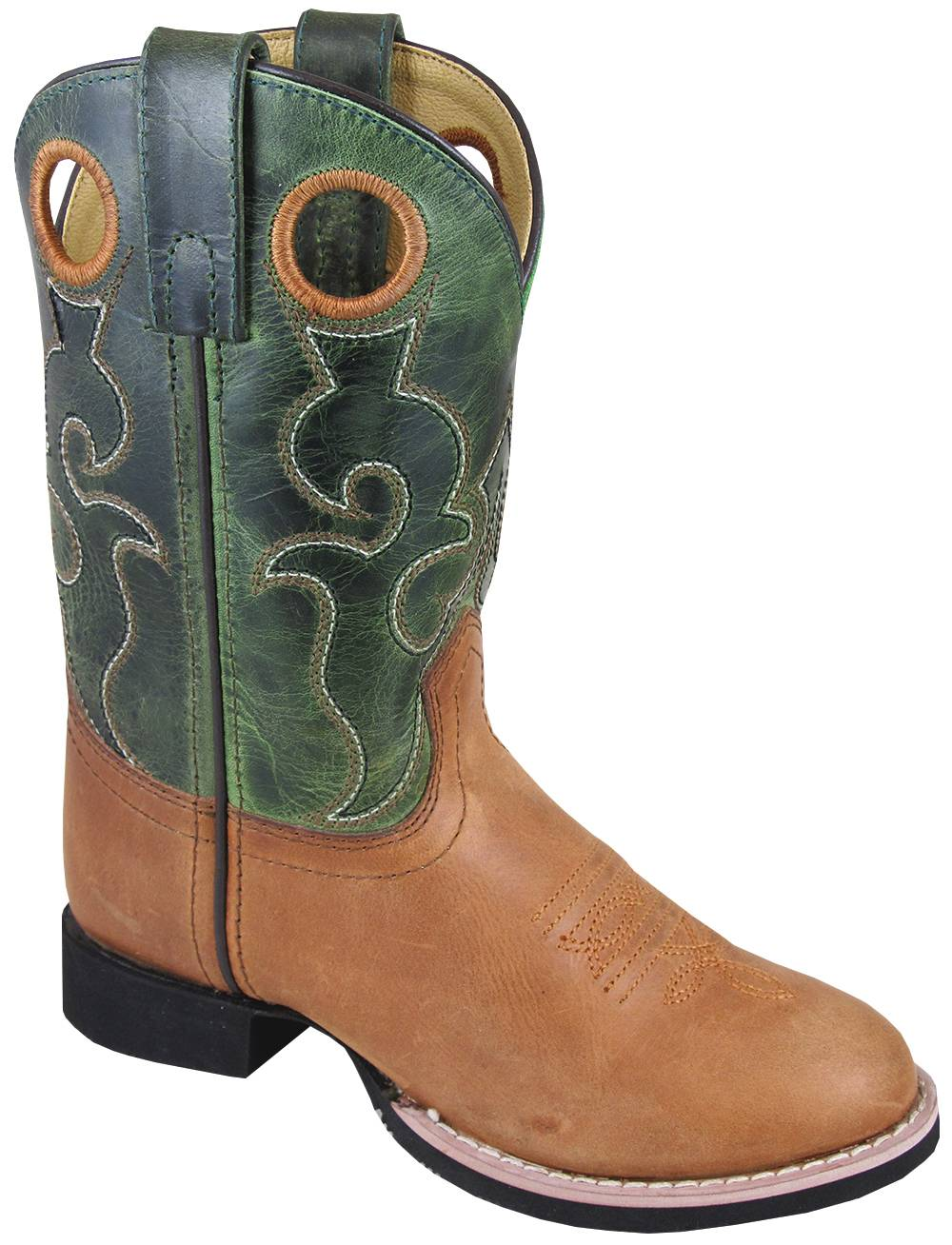Smoky Mountain Rick Boots - Youth - Tan/Green