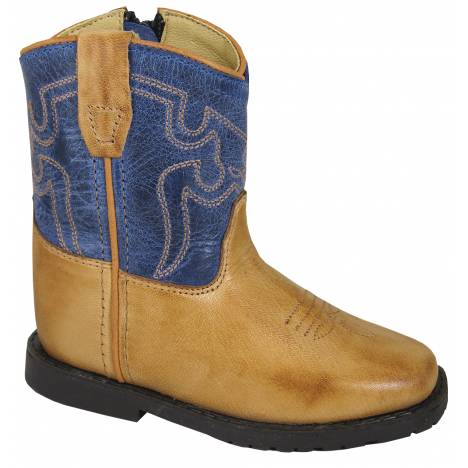 Smoky Mountain Autry Boots - Toddler - Tan/Blue