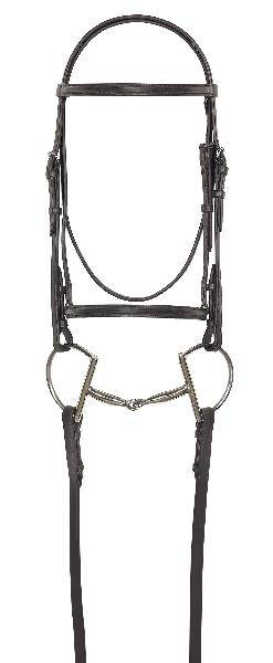 Camelot Plain Raised Quarter Horse Bridle with Lace Reins