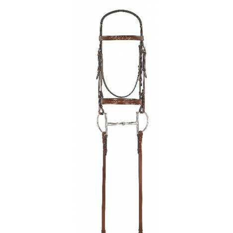 Rodrigo Fancy Inset Bridle with Laced Reins