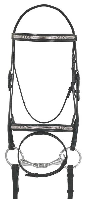 Ovation Europa Sparkle Dressage Bridle - Flash, Web Reins