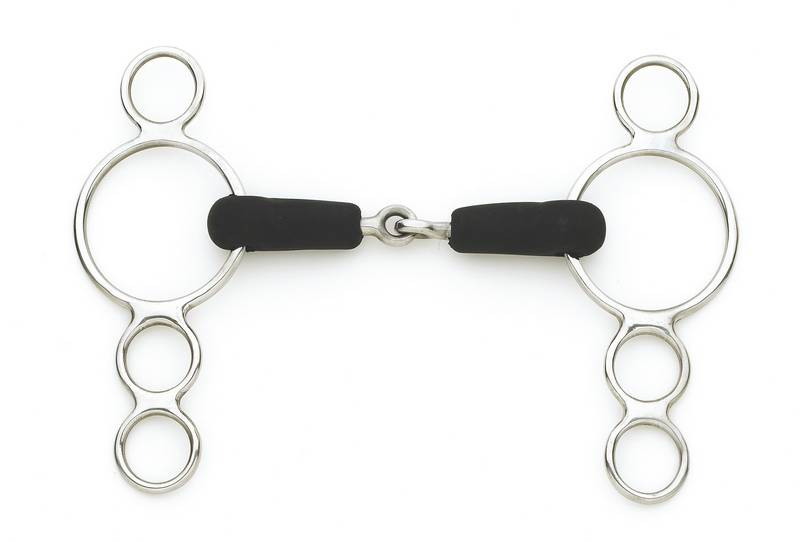 Cenataur 3 Ring Gag Rubber Mouth - Single Joint