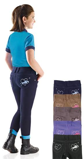 Ovation Jumping Heart Jean Tights - Kids