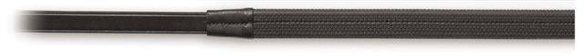 Ovation Rubber Covered Reins with Hook Ends - Black