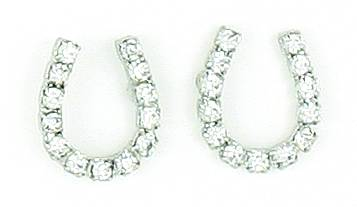 Finishing Touch Horseshoe with Rhinestones Earrings