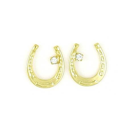 Finishing Touch Horseshoe with Swarovski Crystal Earrings