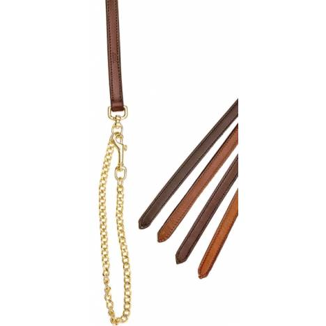 TORY LEATHER 3/4'' Double & Stitched Lead - Brass Plated Chain