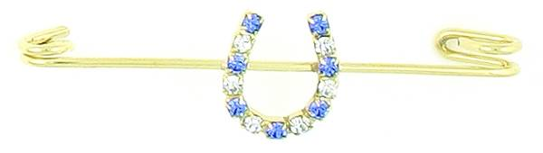 Finishing Touch Crystal Horseshoe Stock Pin - Sapphire