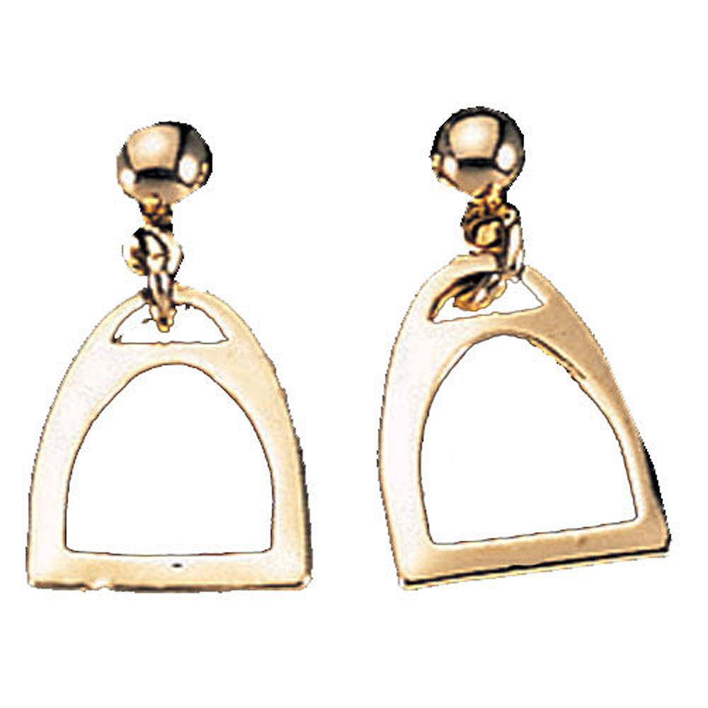 Exselle Smooth Stirrup Earrings - Gold Plated