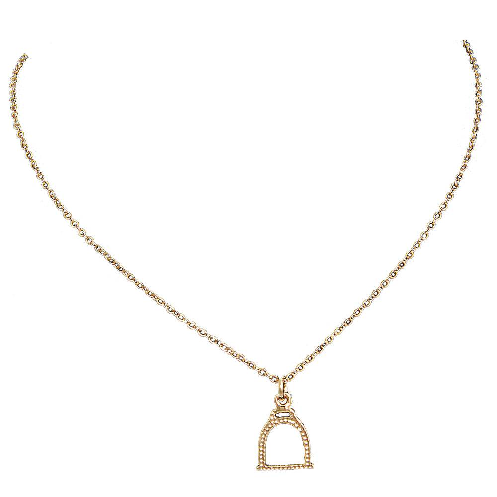 Exselle Stirrup Pendant - Gold Plated
