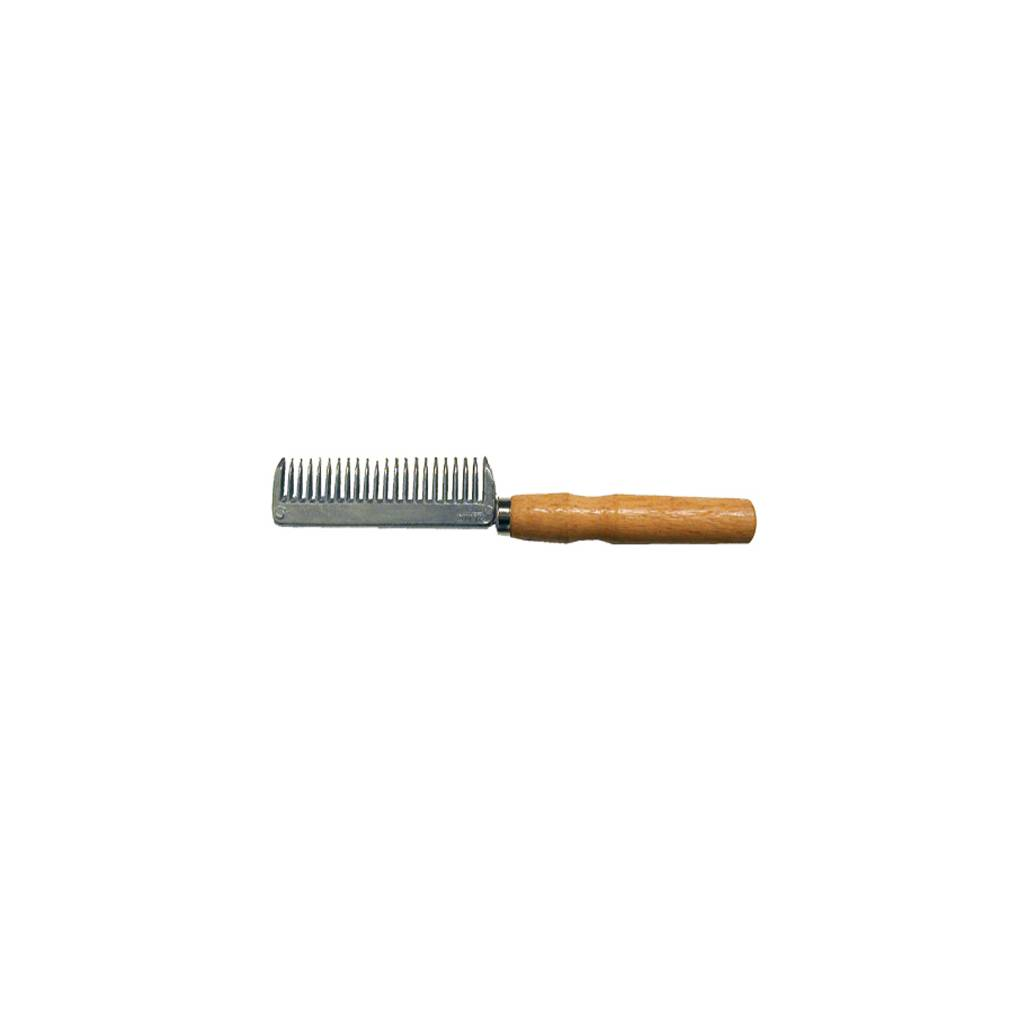 Aluminum Pulling Comb With Wood Handle