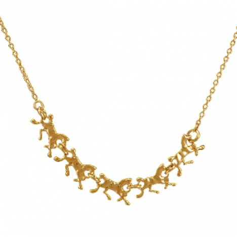 Exselle Running Horses Necklace - Gold Plate