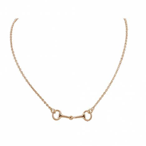 Exselle Snaffle Bit Necklace - Gold Plate