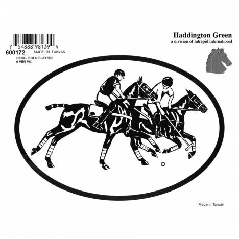 Decal - Polo Players - Pack Of 6