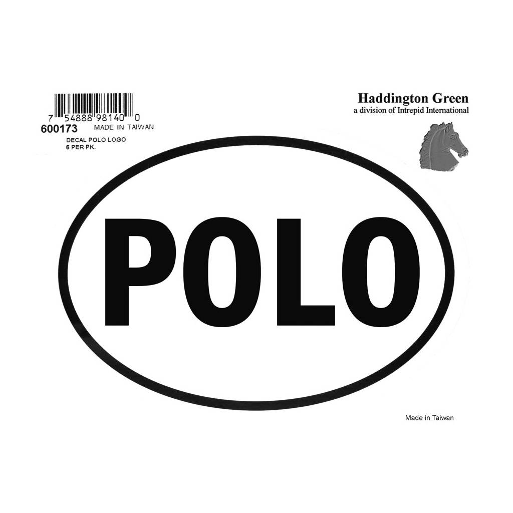 Decal - Polo - Pack Of 6