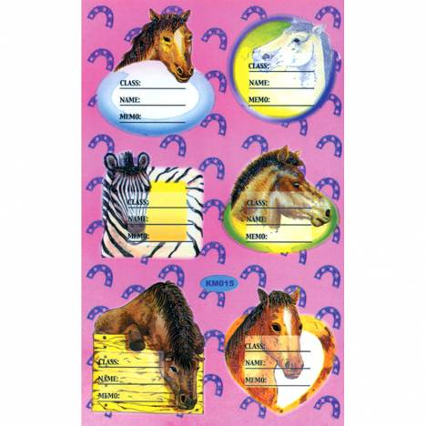 School Folder Horse Labels
