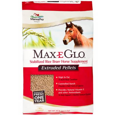 Manna Pro Max-E-Glo Pellet With Calcium Supplement For Horses