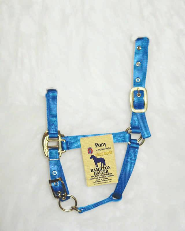 Hamilton Pony Halter with Adjustable Chin and Snap