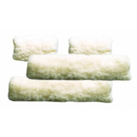 Perris Leather Collection 4 Piece Sheepskin Fleece Halter Set