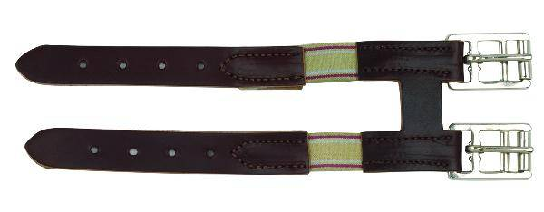 Perris Leather Collection Leather Girth Extender with Elastic