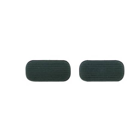 Perris Leather Collection Black Stirrup Pads