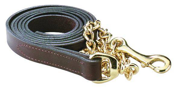 Perris Leather Brass Plate Lead
