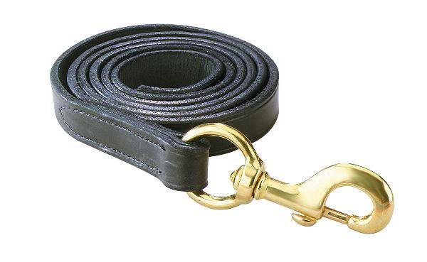 Perris Leather Collection Leather Lead with Solid Brass Snap