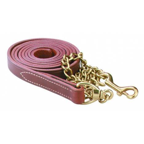 Perris Leather Lead with Solid Brass Chain